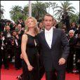 Alexandra Lamy et Jean Dujardin lors de la soirée de clôture du Festival de Cannes le 22 mai 2011