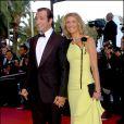 Alexandra Lamy et Jean Dujardin lors du Festival de Cannes le 16 mai 2005
