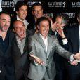 José Garcia, Bruno Solo, Gilbert Melki et Vincent Elbaz à l'avant-première de La vérite si je mens ! 3 à Paris, le 30 janvier 2012.