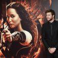 Liam Hemsworth lors de la première de Hunger Games: L'Embrasement au Callao cinema à Madrid, le 13 novembre 2013.