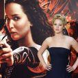 Jennifer Lawrence funky et glamour lors de la première de Hunger Games: L'Embrasement au Callao cinema à Madrid, le 13 novembre 2013.