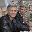 Exclusif - Cyril Viguier et Paul Belmondo lors d'une séance photo pour le documentaire sur la principauté de Monaco produit par Cyril Viguier pour France 3, le 25 mai 2013.