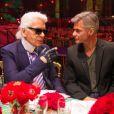Karl Lagerfeld et Cyril Viguier au bal de la Rose à Monaco