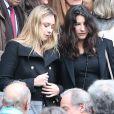 Camille Strauss-Kahn - Obsèques de sa maman Brigitte Guillemette, seconde épouse de Dominique Strauss-Kahn, en l'eglise Saint-Thomas-d'Aquin à Paris, le 7 novembre 2013.