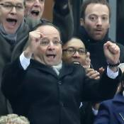 France-Ukraine : François Hollande, supporter comblé au côté de Wahiba Ribéry