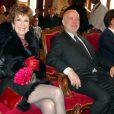 Exclusif - Mariage de Catherine Laborde et de Thomas Stern. Le 9 novembre 2013 à la mairie du 2e arrondissement de Paris.