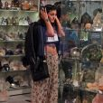 Kylie Jenner dans le magasin Crystalarium à West Hollywood, le 19 novembre 2013.