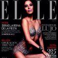 Eva Longoria en couverture du magazine  Elle , Espagne en décembre 2013.