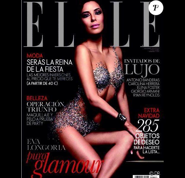 Eva Longoria en couverture du magazine Elle, Espagne en décembre 2013.