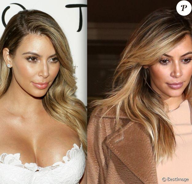 Kim Kardashian affiche un nouveau beauty look néo nude avec un teint réchauffé et lumineux