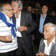 Georges Lautner avec Alain Delon et Jean-Paul Belmondo en 2010