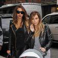 Kim Kardashian, accompagnée de sa fille North, va déjeuner avec son amie LaLa Anthony à New York, le 22 novembre 2013 avant de se rendre au concert de Kanye West