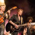 Exclusif : Johnny Hallyday pendant son deuxième concert pour ses 70 ans au théâtre de Paris le 15 juin 2013.