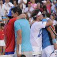 Novak Djokovic et Rafael Nadal à Buenos Aires, le 23 novembre 2013.