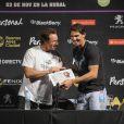 David Nalbandian et Rafael Nadal à Buenos Aires, le 23 novembre 2013.