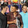 L'acteur Will Smith avec Novak Djokovic et Rafael Nadal à Buenos Aires, le 23 novembre 2013.
