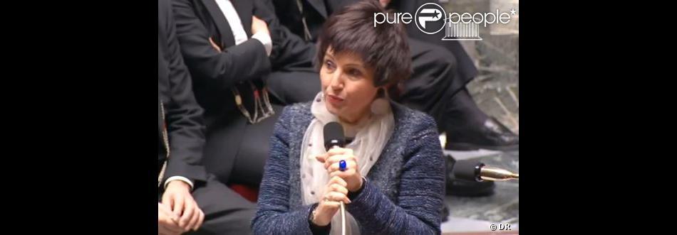 Dominique Bertinotti évoque son cancer du sein à l'Assemblée nationale, le 27 novembre 2013.