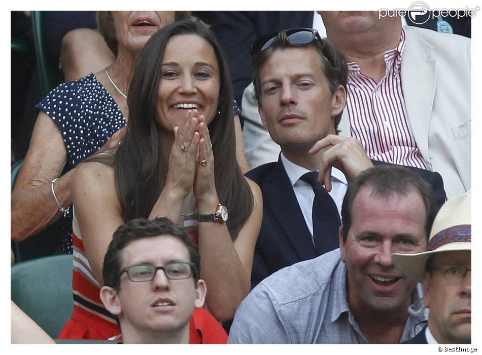 Pippa Middleton et son compagnon Nico Jackson à Wimbledon le 5 juillet 2013.