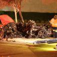 Sur le lieu du crash qui a coûté la vie à l'acteur Paul Walker, star de Fast & Furious, et son ami Roger Rodas le 30 novembre 2013 à Santa Clarita, l'épave de la Porsche Carrera, pulvérisée et carbonisée, fait froid dans le dos tandis que les enquêteurs commencent leur travail.
