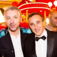Exclusif - Prix Special - Atmen Kelif et Elie Semoun - Backstage du gala de l'Union des Artistes au Cirque d'Hiver a Paris. Le 19 novembre 2013  No Web pour Belgique et Suisse19/11/2013 - Paris