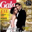 """""""Valérie Bègue et Camille Lacourt (ici en couverture du magazine Gala du 21 août 2013) se sont mariés le 17 août 2013."""""""