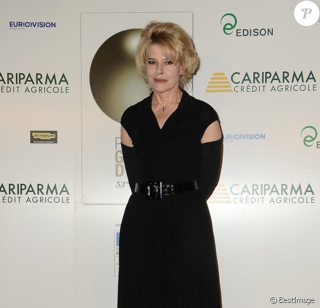 """Fanny Ardant lors de la soirée de remise des prix """"Globo d'Oro"""" à Rome le 3 juillet 2013"""
