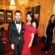 Rebecca Eu avec le créateur Alexis Mabille au Bal des Débutantes le 30 novembre 2013 à l'Automobile Club de France de Paris