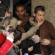 """""""Cristiano Ronaldo """"agressé"""" lors de la présentation de sa statue de cire à Madrid le 7 décembre 2013"""""""