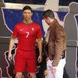 Cristiano Ronaldo inaugurait sa statue de cire à Madrid le 7 décembre 2013