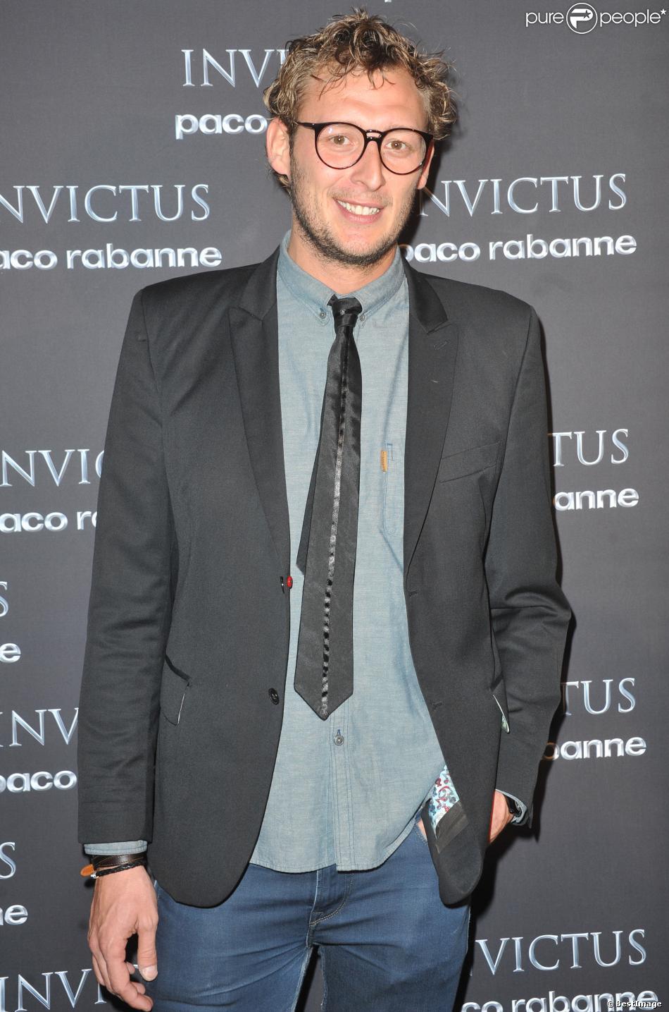 Amaury Leveaux à Paris le 24 ocotbre 2013 lors des Invictus Awards au Palais de Tokyo