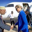 Arrivée de la reine Maxima des Pays-Bas en Ethiopie le 9 décembre 2013 pour une visite officielle en sa qualité d'ambassadrice spéciale des Nations-unies pour la microfinance en faveur du microdéveloppement.
