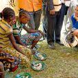 La reine Maxima des Pays-Bas en Ethiopie le 9 décembre 2013 pour une visite officielle en sa qualité d'ambassadrice spéciale des Nations-unies pour la microfinance en faveur du microdéveloppement.