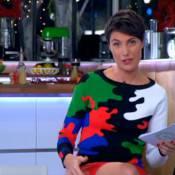 Alessandra Sublet, sexy en cuir : De retour dans ''C à vous'' pour son mari !