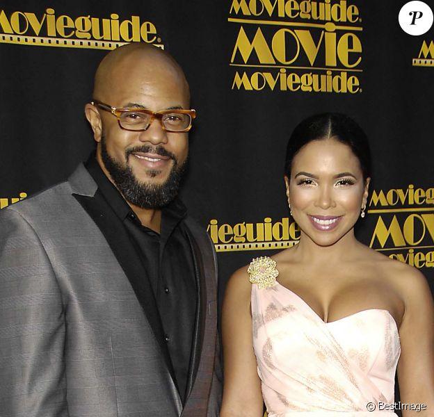 Rockmond Dunbar et sa femme Maya Gilbert à Los Angeles, le 15 février 2013.
