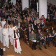 Le prince Frederik et la princesse Mary assistaient avec leurs enfants, le prince Christian (8 ans), la princesse Isabella (6 ans), et les jumeaux Vincent et Joséphine (bientôt 3 ans), au concert de Noël du choeur d'enfants du Conservatoire royal de musique, le 15 décembre 2013 en l'église d'Isaiah à Copenhague.
