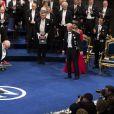 """"""" François Englert a reçu le 10 décembre 2013 à Stockholm le prix Nobel de Physique. """""""