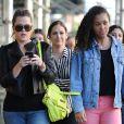 Khloé Kardashian et Destiny, fille de Lamar Odom, à New York en avril 2012.
