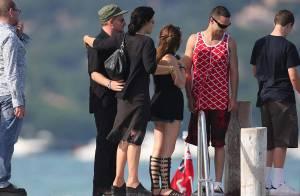 PHOTOS : Bono, petite virée en famille à Saint-Trop' !