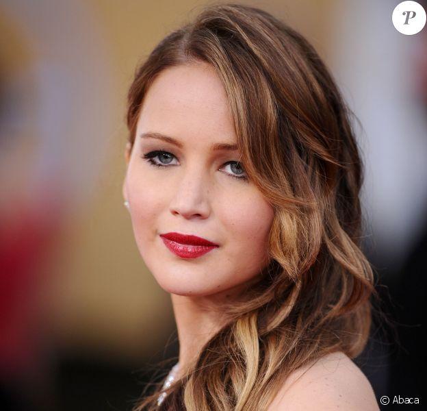 Jennifer Lawrence aux Screen Actors Guild Awards à Los Angeles, le 27 janvier 2013.