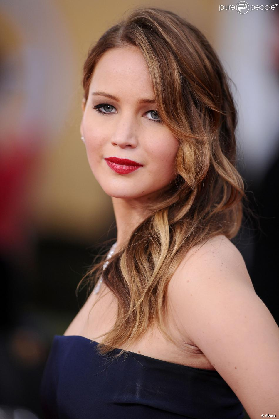 Jennifer Lawrence aux Screen Actors Guild Awards à Los Angeles, le 27 janvier 2013.