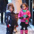 Monroe et Moroccan Cannon, les jumeaux de Mariah Carey et Nick Cannon, à Aspen, dans le Colorado, le 20 décembre 2013.