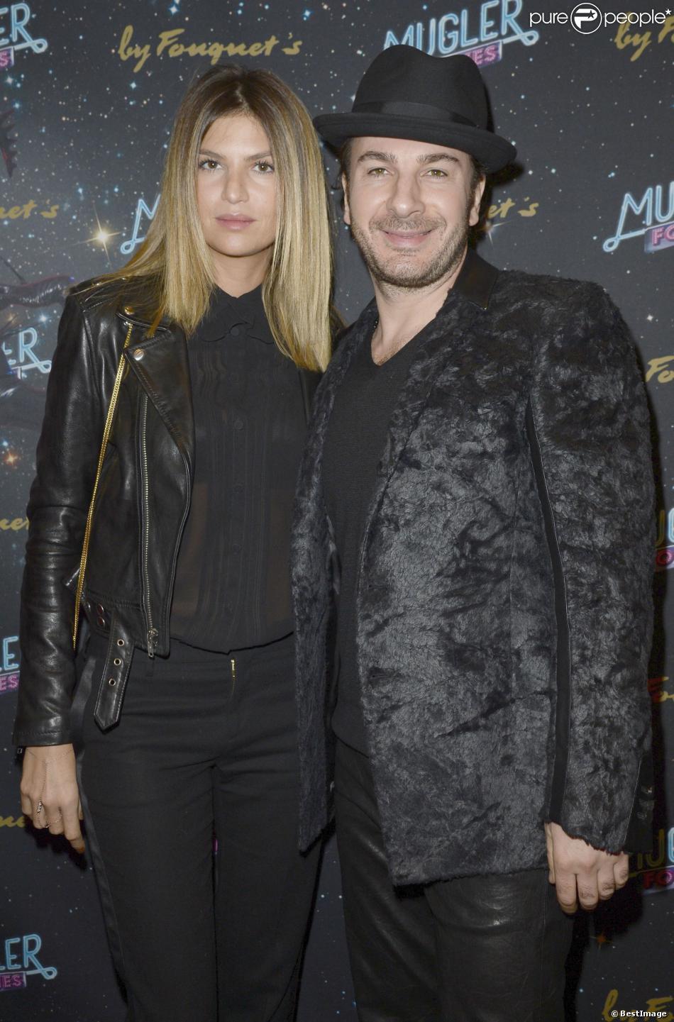 """Isabelle Funaro et Michael Youn lors de la 2e représentation du show de Thierry Mugler """"Mugler Follies"""" au Théâtre Comédia de Paris, le 19 décembre 2013."""