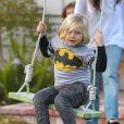 Gwen Stefani : son petit Zuma s'amuse comme un fou à Los Angeles, le 21 decembre 2013