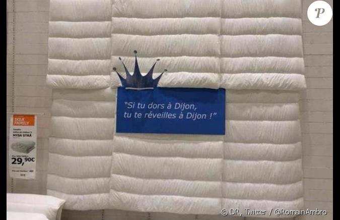 publicit ikea surfant sur la blague de jean pierre foucault. Black Bedroom Furniture Sets. Home Design Ideas