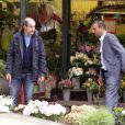 """Exclusif - Bernard Campan et Pascal Légitimus tournent le film """"Les Trois Frères à Paris le 30 mai 2013."""