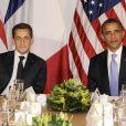 Nicolas Sarkozy et Barack Obama à New York, le 21 septembre 2011.