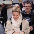 Corinna Schumacher, l'épouse de Michael Schumacher, à son arrivée au CHU de Grenoble, le 3 janvier 2014