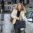 Sabine Kehm l'attachée de presse de Michael Schumacher, lors de son arrivée au CHU de Grenoble, le 3 janvier 2014