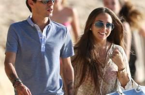 Marc Anthony, ex de JLo, et Chloe Green : Amoureux à la plage, un beau Nouvel An