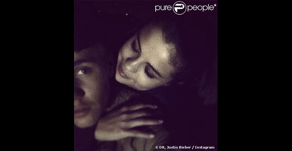 Justin Bieber et Selena Gomez, tendres et complices sur Instagram, début janvier 2014.